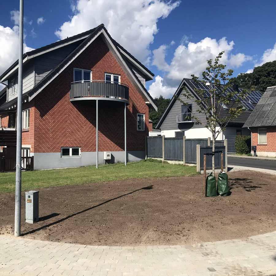 Klargøring af hus facade med vores Grøn service